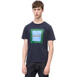 Υφασμάτινα Άνδρας T-shirt με κοντά μανίκια Calvin Klein Jeans K10K102679 Μπλε
