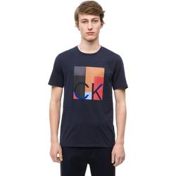 Υφασμάτινα Άνδρας T-shirt με κοντά μανίκια Calvin Klein Jeans K10K102690 Μπλε