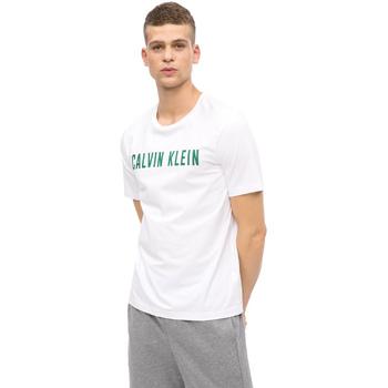 Υφασμάτινα Άνδρας T-shirt με κοντά μανίκια Calvin Klein Jeans 00GMF8K160 λευκό