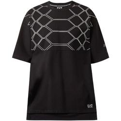 Υφασμάτινα Άνδρας T-shirt με κοντά μανίκια Ea7 Emporio Armani 6ZPT43 PJQ0Z Μαύρος