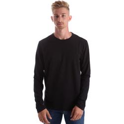Υφασμάτινα Άνδρας Μπλουζάκια με μακριά μανίκια Gas 300187 Μαύρος