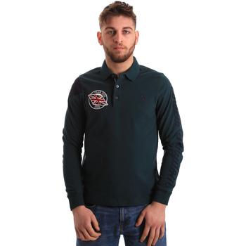 Υφασμάτινα Άνδρας Πόλο με μακριά μανίκια  U.S Polo Assn. 50615 47773 Πράσινος