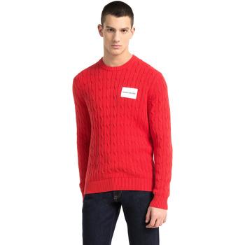 Υφασμάτινα Άνδρας Πουλόβερ Calvin Klein Jeans J30J307800 το κόκκινο