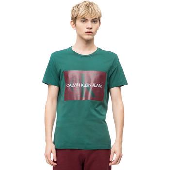 Υφασμάτινα Άνδρας T-shirt με κοντά μανίκια Calvin Klein Jeans J30J307843 Πράσινος