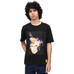 Υφασμάτινα Άνδρας T-shirt με κοντά μανίκια Calvin Klein Jeans J30J310572 Μαύρος