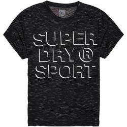Υφασμάτινα Γυναίκα T-shirt με κοντά μανίκια Superdry GS30042AR Μαύρος