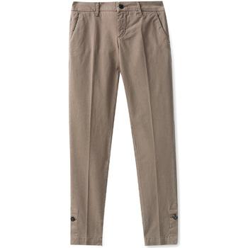 Υφασμάτινα Γυναίκα Παντελόνια Chino/Carrot Liu Jo W68321T6468 καφέ