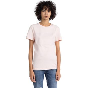 Υφασμάτινα Γυναίκα T-shirt με κοντά μανίκια Calvin Klein Jeans J20J207949 Ροζ