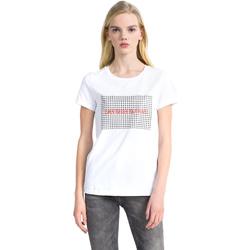 Υφασμάτινα Γυναίκα T-shirt με κοντά μανίκια Calvin Klein Jeans J20J207974 λευκό