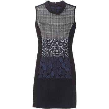 Υφασμάτινα Γυναίκα Κοντά Φορέματα Desigual 18WWVW21 Μπλε