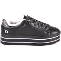 Παπούτσια Γυναίκα Χαμηλά Sneakers Y Not? W18 52 YW 710 Μαύρος