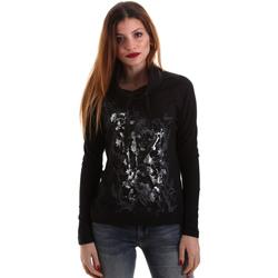Υφασμάτινα Γυναίκα Μπλουζάκια με μακριά μανίκια Key Up 5VG84 0001 Μαύρος