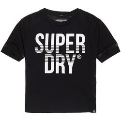 Υφασμάτινα Γυναίκα T-shirt με κοντά μανίκια Superdry G60003TQ Μαύρος
