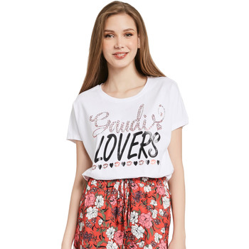 T-shirt με κοντά μανίκια Gaudi 011BD64008