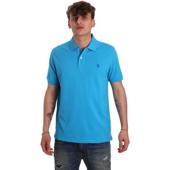 Υφασμάτινα Άνδρας Πόλο με κοντά μανίκια  U.S Polo Assn. 55957 41029 Μπλε
