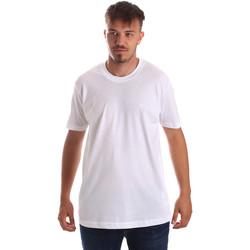 Υφασμάτινα Άνδρας T-shirt με κοντά μανίκια Key Up 2M915 0001 λευκό
