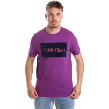 Υφασμάτινα Άνδρας T-shirt με κοντά μανίκια Calvin Klein Jeans K10K103012 Βιολέτα