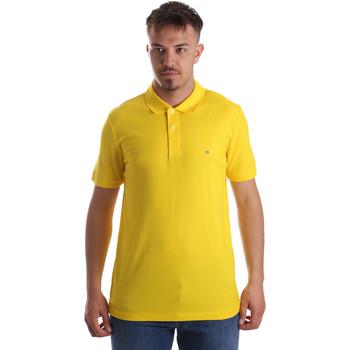 Υφασμάτινα Άνδρας Πόλο με κοντά μανίκια  Calvin Klein Jeans K10K102758 Κίτρινος