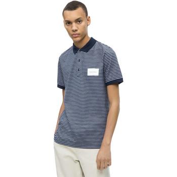 Υφασμάτινα Άνδρας Πόλο με κοντά μανίκια  Calvin Klein Jeans K10K103364 Μπλε