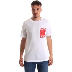 Υφασμάτινα Άνδρας T-shirt με κοντά μανίκια Calvin Klein Jeans J30J311326 λευκό