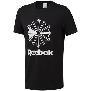 Υφασμάτινα Άνδρας T-shirt με κοντά μανίκια Reebok Sport DT8171 Μαύρος