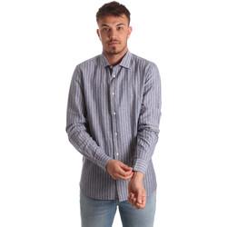 Υφασμάτινα Άνδρας Πουκάμισα με μακριά μανίκια Antony Morato MMSL00520 FA420069 Μπλε