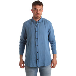 Υφασμάτινα Άνδρας Πουκάμισα με μακριά μανίκια Antony Morato MMSL00530 FA400051 Μπλε