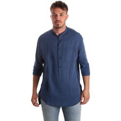 Υφασμάτινα Άνδρας Πουκάμισα με μακριά μανίκια Antony Morato MMSL00531 FA400051 Μπλε