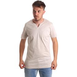 Υφασμάτινα Άνδρας T-shirt με κοντά μανίκια Antony Morato MMKS01487 FA100139 Μπεζ