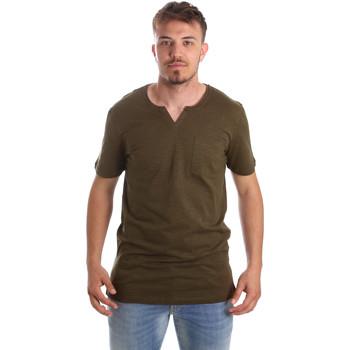 Υφασμάτινα Άνδρας T-shirt με κοντά μανίκια Antony Morato MMKS01487 FA100139 Πράσινος