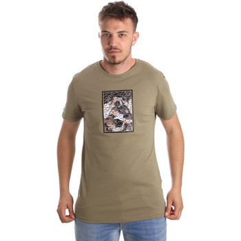 Υφασμάτινα Άνδρας T-shirt με κοντά μανίκια Antony Morato MMKS01551 FA100144 Πράσινος