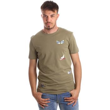 Υφασμάτινα Άνδρας T-shirt με κοντά μανίκια Antony Morato MMKS01515 FA100144 Πράσινος