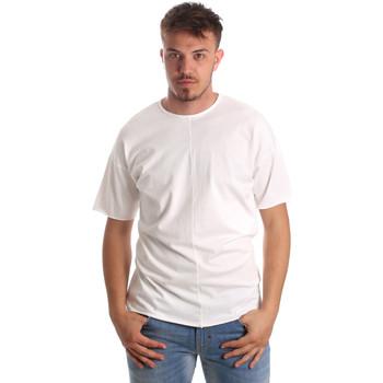 Υφασμάτινα Άνδρας T-shirt με κοντά μανίκια Antony Morato MMKS01564 FA100189 λευκό
