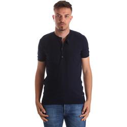 Υφασμάτινα Άνδρας T-shirt με κοντά μανίκια Gaudi 911FU53008 Μπλε