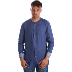 Υφασμάτινα Άνδρας Πουκάμισα με μακριά μανίκια Gaudi 911BU45002 Μπλε