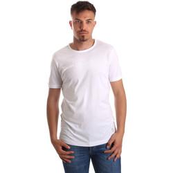 Υφασμάτινα Άνδρας T-shirt με κοντά μανίκια Gaudi 911BU64023 λευκό