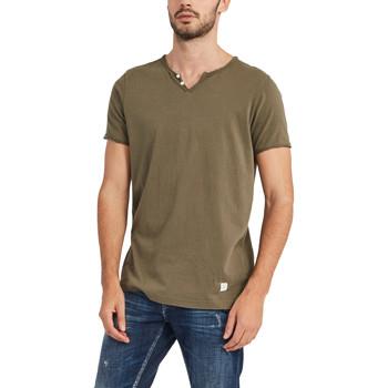 Υφασμάτινα Άνδρας T-shirt με κοντά μανίκια Gaudi 911BU64024 Πράσινος
