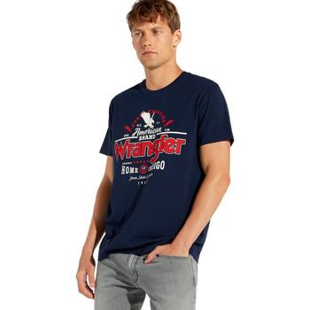 Υφασμάτινα Άνδρας T-shirt με κοντά μανίκια Wrangler W7C08F Μπλε