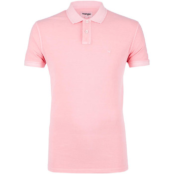 Υφασμάτινα Άνδρας Πόλο με κοντά μανίκια  Wrangler W7C15K Ροζ