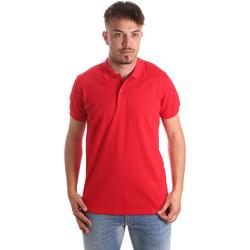 Υφασμάτινα Άνδρας Πόλο με κοντά μανίκια  Navigare NV82001 το κόκκινο