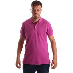 Υφασμάτινα Άνδρας Πόλο με κοντά μανίκια  Navigare NV82086 Ροζ