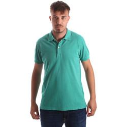 Υφασμάτινα Άνδρας Πόλο με κοντά μανίκια  Navigare NV82086 Πράσινος