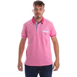 Υφασμάτινα Άνδρας Πόλο με κοντά μανίκια  Navigare NV82092 Ροζ