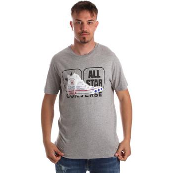 Υφασμάτινα Άνδρας T-shirt με κοντά μανίκια Converse 10017575-A01 Γκρί