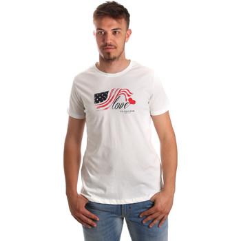 Υφασμάτινα Άνδρας T-shirt με κοντά μανίκια U.S Polo Assn. 51520 51655 λευκό