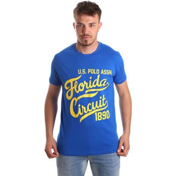 Υφασμάτινα Άνδρας T-shirt με κοντά μανίκια U.S Polo Assn. 49351 51340 Μπλε