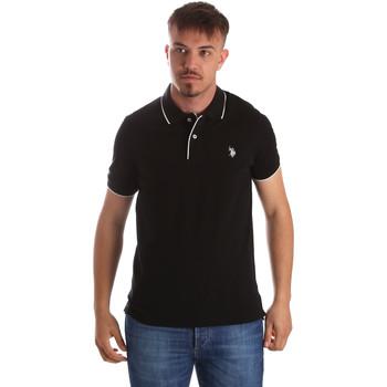 Υφασμάτινα Άνδρας Πόλο με κοντά μανίκια  U.S Polo Assn. 50336 51263 Μαύρος