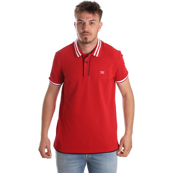 Υφασμάτινα Άνδρας Πόλο με κοντά μανίκια  NeroGiardini P972210U το κόκκινο