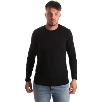 Υφασμάτινα Άνδρας Μπλουζάκια με μακριά μανίκια Key Up 2E96B 0001 Μαύρος
