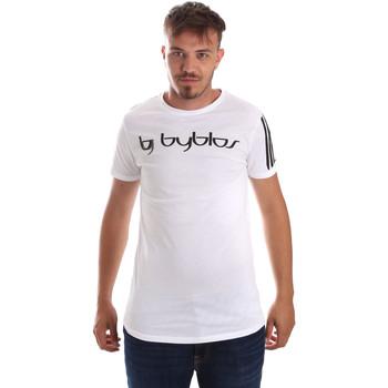 Υφασμάτινα Άνδρας T-shirt με κοντά μανίκια Byblos Blu 2MT0016 TE0046 λευκό